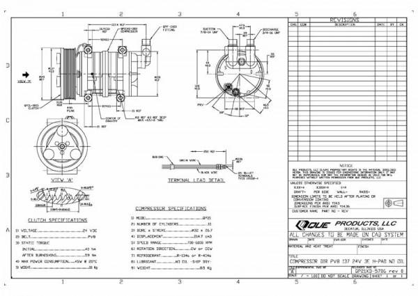 Q21XD-5707, 24Volt, 8PK, 137mm, direct Einbauweise, Erstausrüster